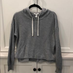 Forever 21 Sweaters - Forever 21 gray ribbed sweater with hoodie